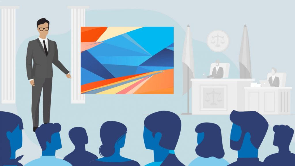 Jury consulting illustration